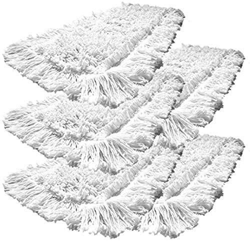 Gizmop 5er-Pack 40 cm Einweg Bodenwischer Wischmop aus 100% Baumwolle. Ideal für geöltes Parkett Dielen Laminat & Fliesen und
