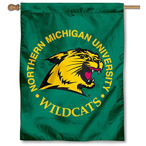 (College Flags and Banners Co. NMU Wildcats Banner House Flag)