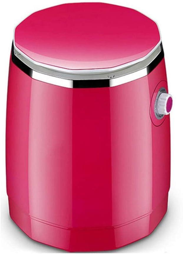 TYUIO Arandelas Mini deshidratador portátil de los niños, el Lavado Semi-automático de un Solo Cilindro Verde hogar y lixiviación (Color: Verde) (Color : Pink)
