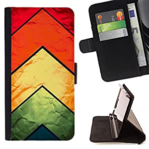 DEVIL CASE - FOR Apple Iphone 6 PLUS 5.5 - Chevron Kite Fabric Silk Textile Rainbow Pattern - Style PU Leather Case Wallet Flip Stand Flap Closure Cover