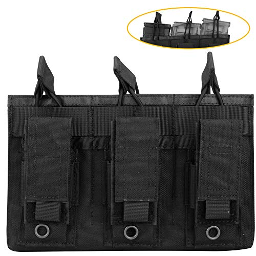 - Aoutacc Double/Triple Tactical Mag Pouch, Double Stack Pouch Can Hold Kangaroo Rifle Magazines and Pistol Mag (Triple-Black)
