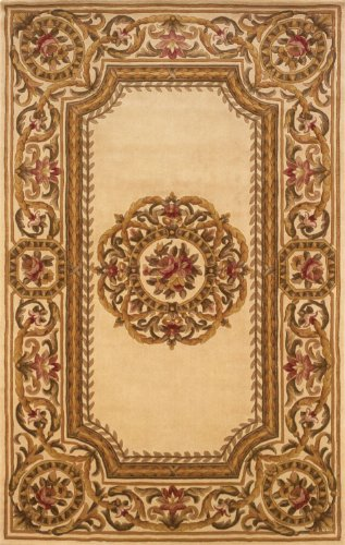 Momeni European Rectangle Area Rug 2'x3' Ivory Harmony Collection