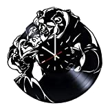 Beauty and The Beast Vinyl Record Wall Clock - Nursery room wall decor - Gift ideas for girls, children, kids - Fantasy Movie Unique Art Design