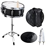 ADM Student Snare Drum Set with Case, Sticks, Stand and Practice Pad Kit