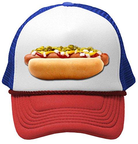 5eb4e9a390e HOT DOG - concession truck fair carnival snack food Mesh Trucker Cap Hat
