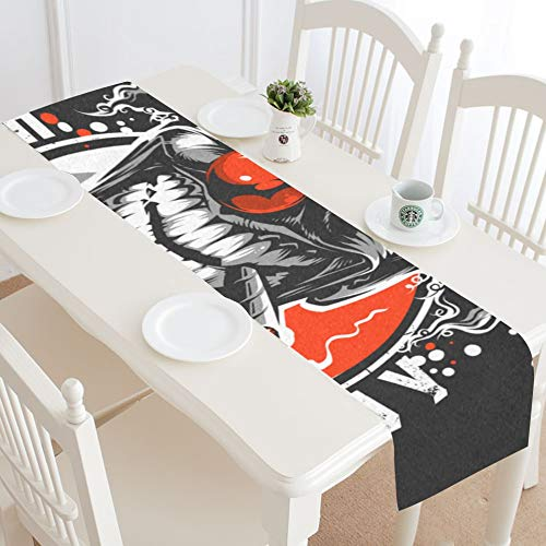 WIEDLKL Very Bad Clown Table Runner Kitchen Dining