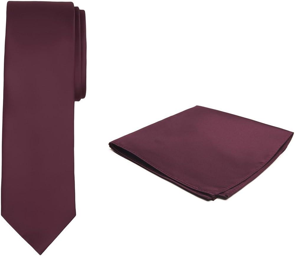 Jacob Alexander Solid Color Boys Regular Tie and Hanky Set