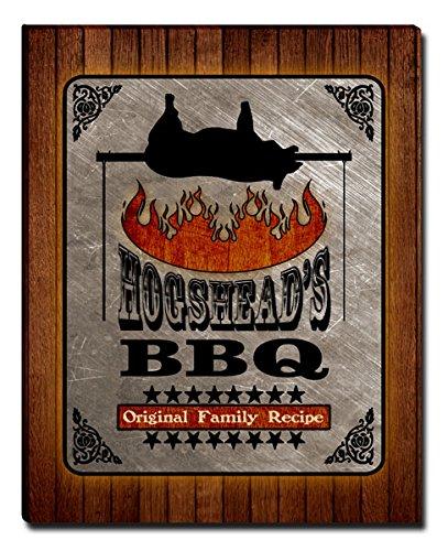 Hogshead's Barbecue BBQ Gallery Wrapped Canvas (Hogshead Wall)