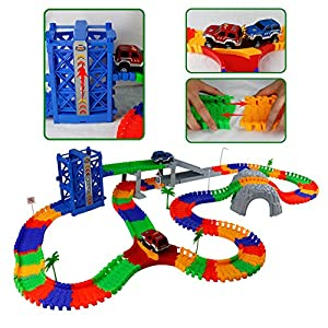 Fajiabao Race Car Train Track Set Race Cars Vehicles for Children's Halloween Christmas Toys