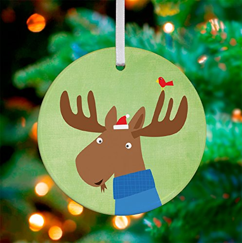 Oopsy Daisy Keepsake Ornament, Holiday Moose, 3