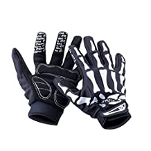 Basecamp Bike Riding Skeleton Gloves, Men Women Mountain Road Slip-Resistant Racing Bicycling Bike Cycling Full Finger Bone Gloves