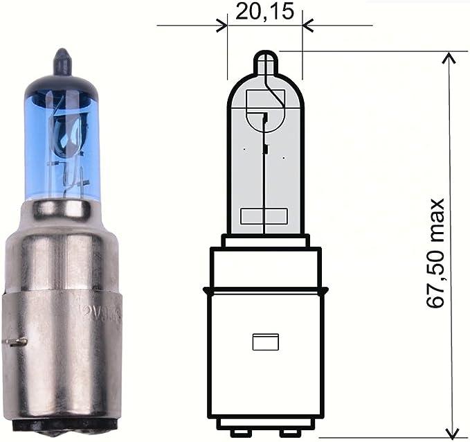 Lampe 12v 35 35w Ba20d Superweiß Xenoneffekt Halogen Bilux Auto