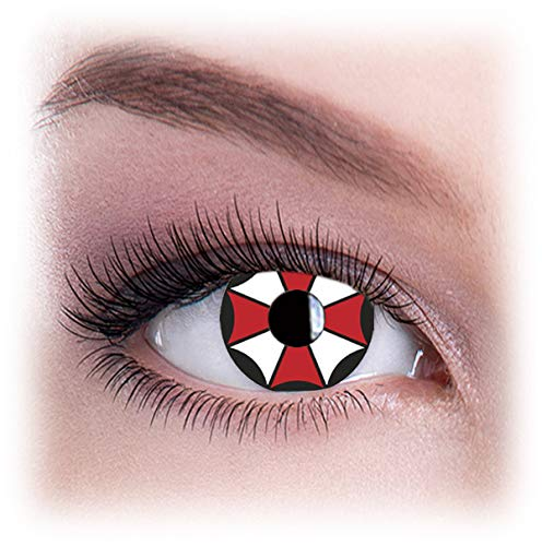 Women Multicolor Cute Charm and Attractive Eye Accessories Cosmetic Makeup Eye Shadow - Umbrella Corp with Contact Lens Case By Dress You Up TM ()