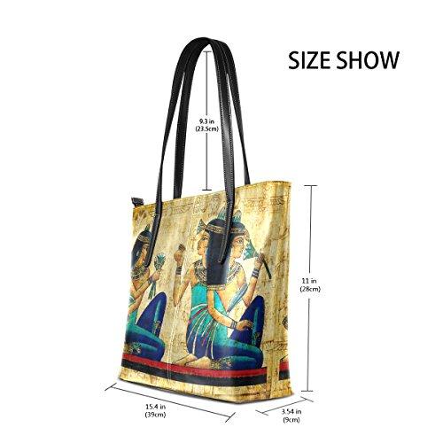 Parchment Bag Borse Pu Le Donne Tote In Muticolour Antico Egitto Pelle Borsa Coosun E Medio Per A Tracolla 6nwY1qxv7