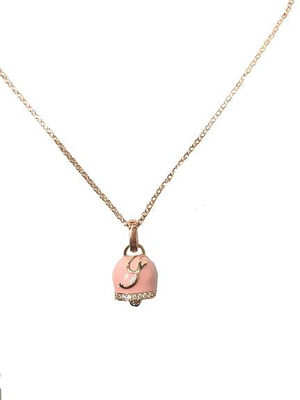 San Francisco c36a0 3a163 Collana argento 925 rosato con pendente campanella rosa ...