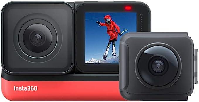 Insta360 One R Twin Edition - Cámara de acción 4K y Cámara de 5.7K 360 con Lentes Intercambiables, Estabilización, IPX8, Impermeables, Pantalla ...