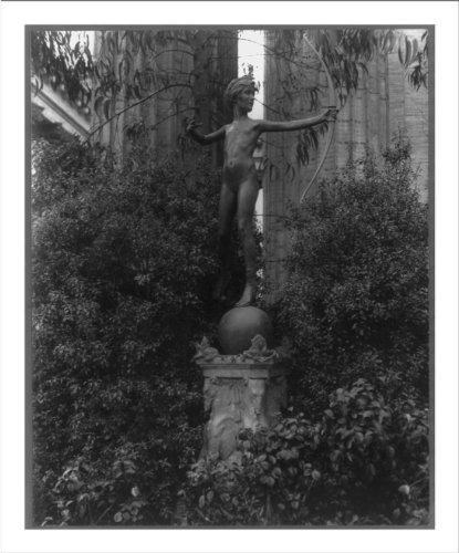 - Historic Print (L): [Sculpture of young Diana shooting an arrow]