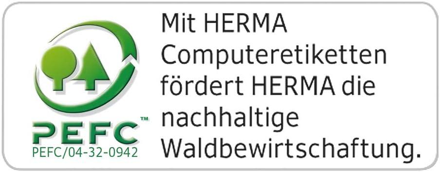 Herma 8201 Computeretiketten Endlosetiketten 71,12 x 48,4 mm selbstklebend 3.000 St/ück wei/ß Papier matt