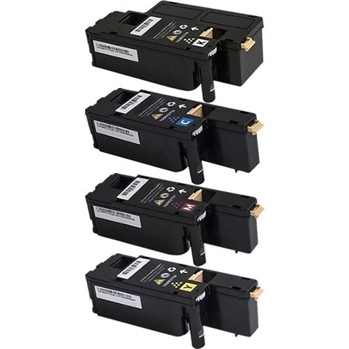 Do it Wiser ® Compatible Toner Cartridges Set for Xerox Phaser 6022 WorkCentre 6027 - 106R02759 106R02756 106R02757 106R02758 -Black yield 2,000 & Color yield 1,000 pages (4 pack)