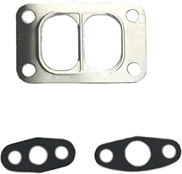 Turbo T4 Flange Stainless Steel Metal Gasket Twinscroll Divided Inlet