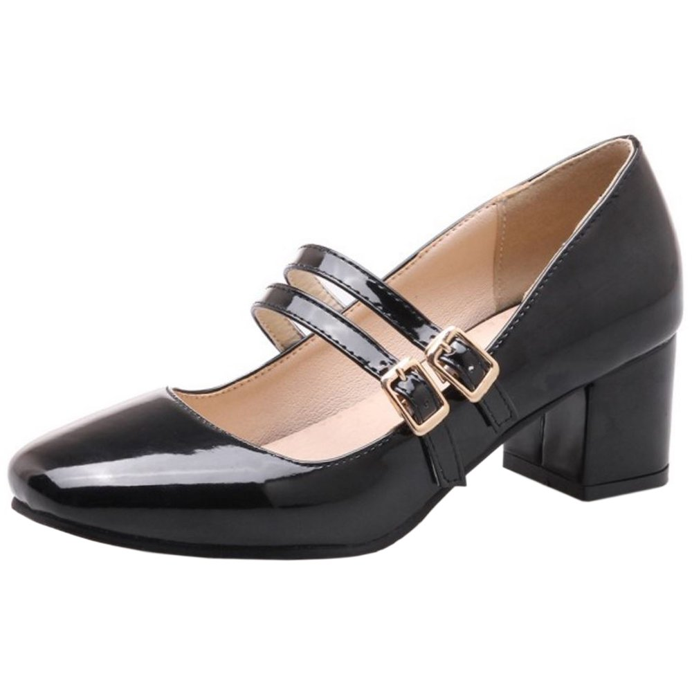 Zanpa Tailles Femmes Mode Mary Mary Janes B07792XG6N Big Tailles Black 406a6b8 - reprogrammed.space