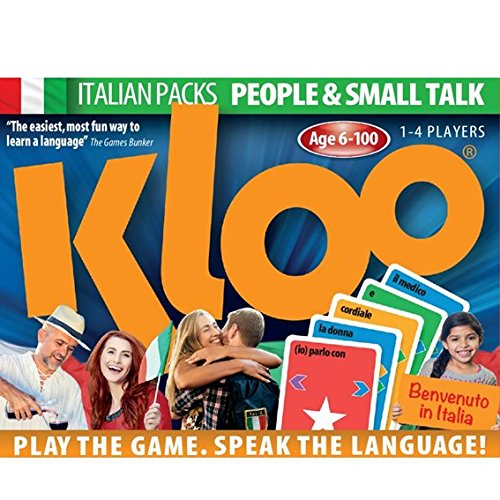 KLOO Learn to Speak Italian Games - People & Small Talk - Pack 1 (Double Deck)