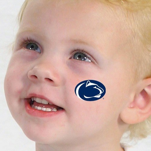 NCAA Penn State Nittany Lions 4-Pack Waterless Temporary Tattoos- (Penn State Tattoos)
