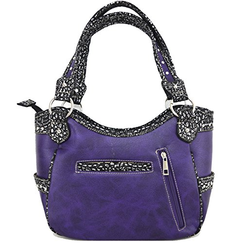 purple Skull à Sac main à bag Messenger bandoulière Sac Black awZqpzz