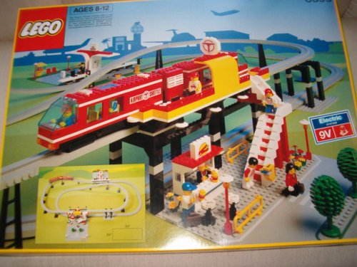 LEGO Vintage Airport Shuttle Monorail #6399 From 1990's - Hard to find! (Lego Airport Shuttle)