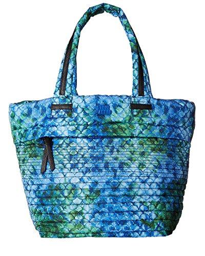 Steve Madden Women's Brova Horizontal Quilt Tote Blue Multi ()