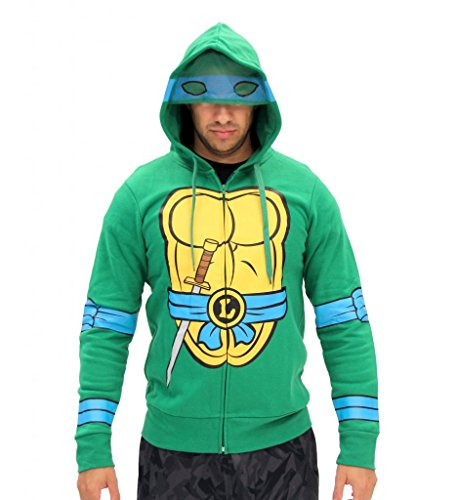 [Teenage Mutant Ninja Turtles I Am Leonardo Costume Zip Hoodie Size Large Color Leonardo] (Ninja Costume Man)