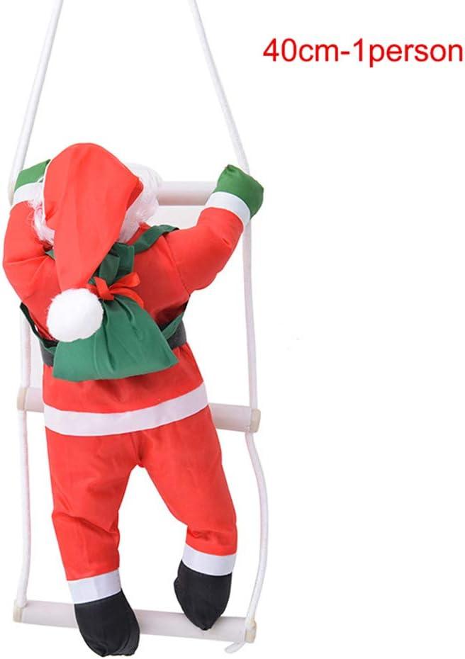 Restarty Figura Decorativa de Papá Noel con Escalera para Colgar en el árbol de Navidad: Amazon.es: Jardín