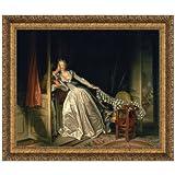 Design Toscano The Stolen Kiss, c. 1788: Canvas Replica Painting: Grande