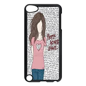 WEUKK People Always Leave iPod Touch 5 case cover, personalized cover case for iPod Touch 5 People Always Leave, personalized People Always Leave cell phone case