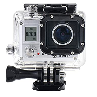 AMKOV AMK5000S 20MP 1080P Wifi Waterproof 30M 170° Wide Action Sports Camera HD Dv + Shockproof Carrying Bag and Free Accessories Kit
