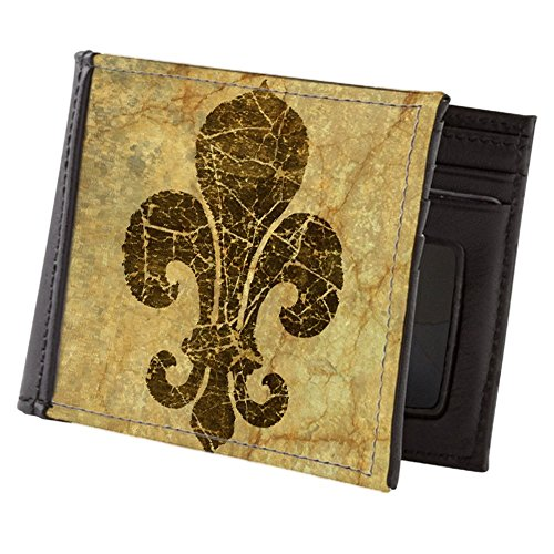 CafePress - Cracked Red Fleur De Lis - Mens Wallet, Bi-fold Wallet, Billfold Money (Fleur De Lis Wallet)