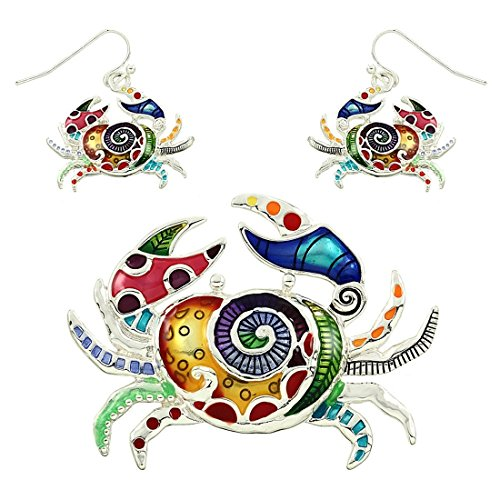 multi-color-crab-pendent-with-earring-set-by-jewels-nine-by-serena
