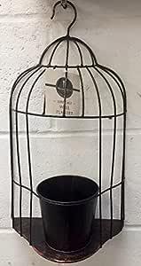 Maceta de Jardín para colgar en la pared, diseño de jaula Cobre ...