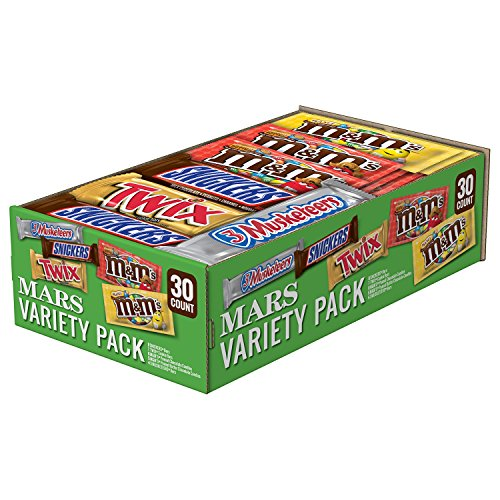 SNICKERS, M&M'S, 3 MUSKETEERS & TWIX Full Size Bars Variety Mix, 30-Count -
