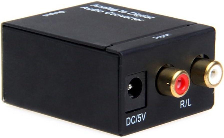alimentation par c/âble USB GOGOGO Convertisseur Num/érique-Analogique Audio Adaptateur avec C/âble Audio Optique pour maison Cin/éma Amplificateurs AV Apple TV