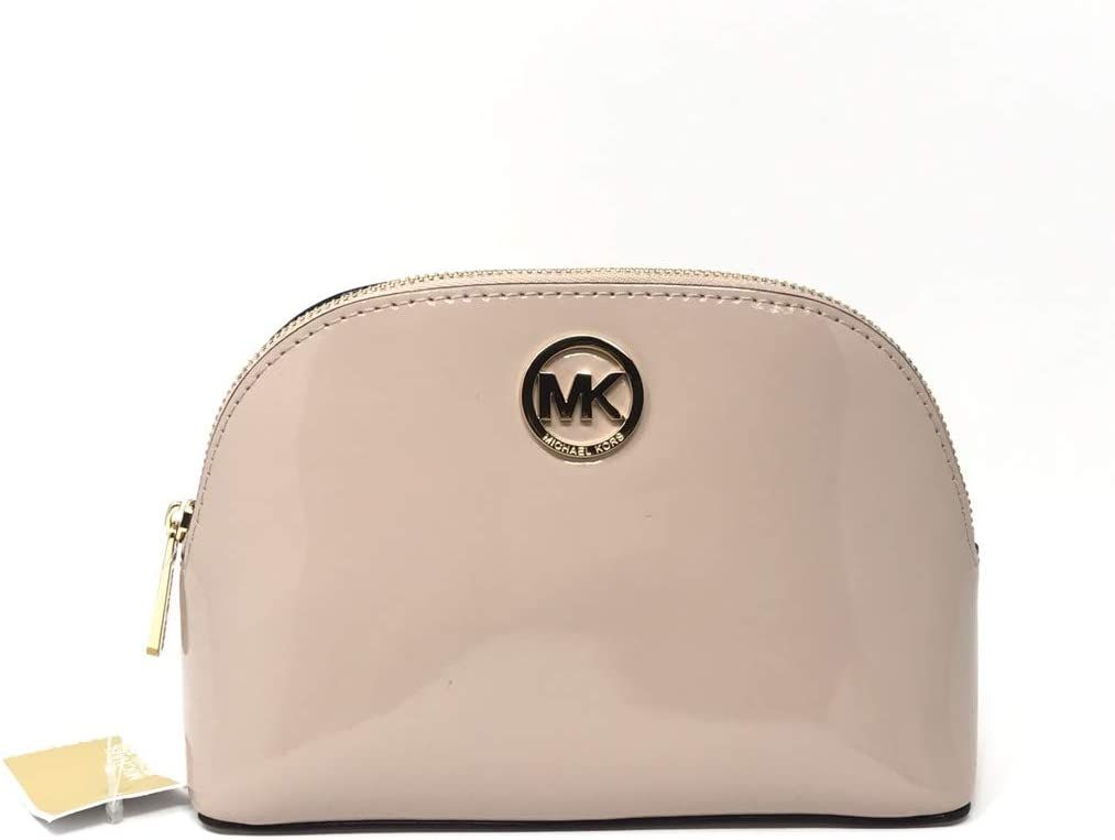 Michael Kors Fulton Patent Leather Cosmetic Travel Pouch in Ballet