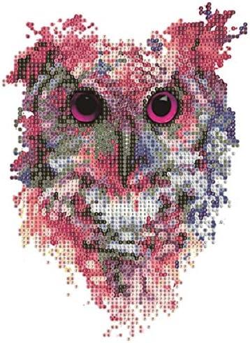 weepo DIY Rhinestone Diamond Painting Kit Colorful Deer Pattern Cross Stitch Arts Craft Home Decor Cross-Stitch 11.8 x 14.6 in