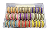 MUCHMORE Awesome Bollywood Fashion Indian Bangles Box Multi Color Party wear Bangles Jewelry (2.8)