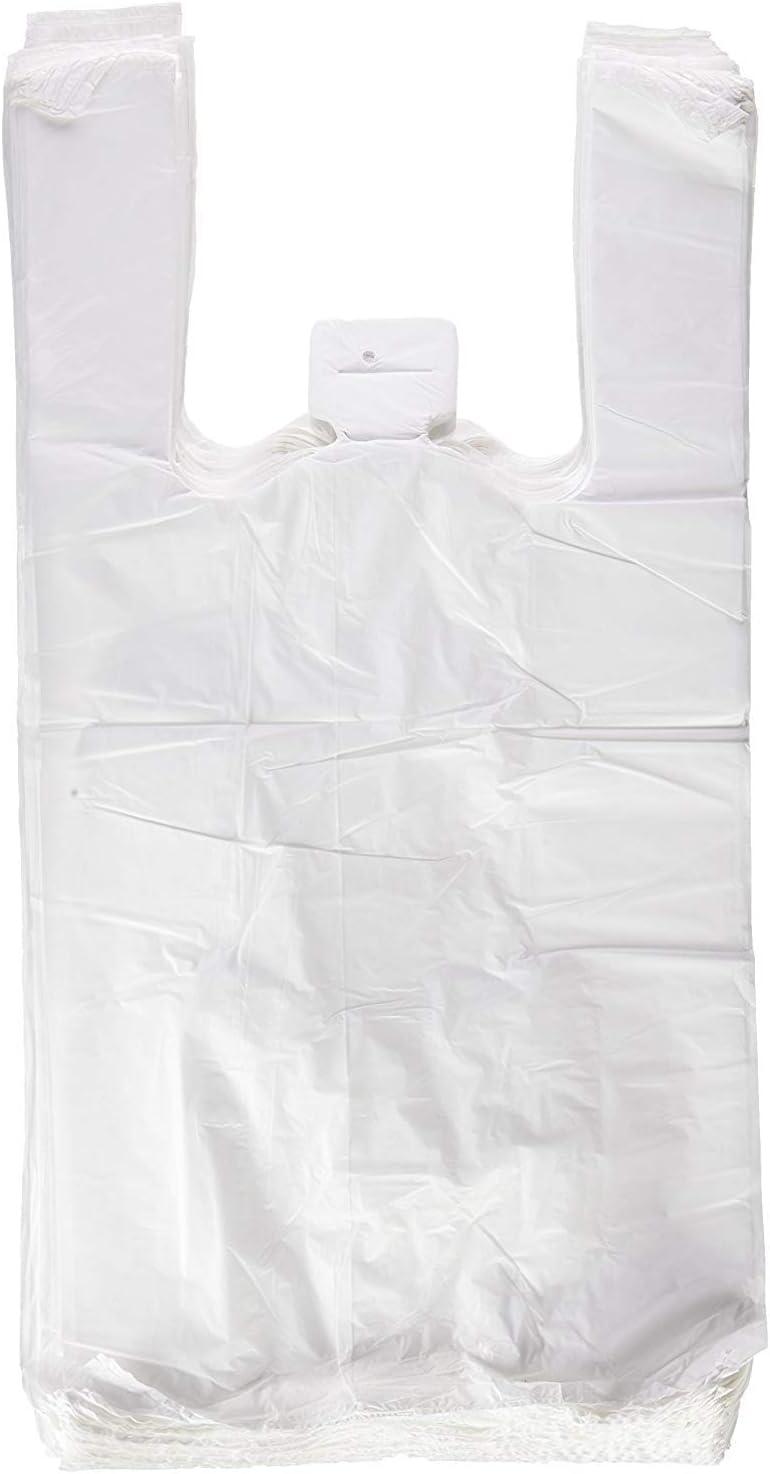 1000 x Bolsas de Plastico Asa Camiseta, 40 x 50 cm, (5 x 200 Unidades)