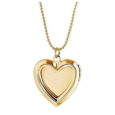 Amazon stoyuan photo frame locket pendant memory necklace amazon stoyuan photo frame locket pendant memory necklace plated silvergold plated gold jewelry aloadofball Gallery
