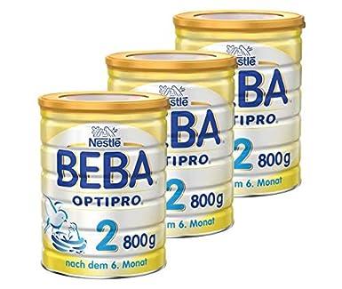 Beba Nestlé OPTIPRO 2 Folgemilch nach dem 6 Monat, Pulver, 3er Pack (3 x 800 g) Nestle Deutschland AG 12341239
