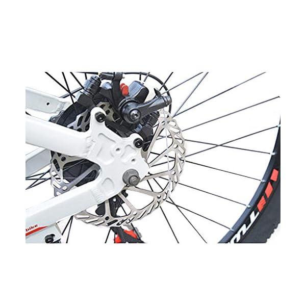 wotefusi Bici Montagna 21 Velocita 26 Pollici Bici Strada Mountain Bicicletta all Terrain Bianco Blu 4 spesavip