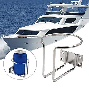 Getränkehalter Edelstahl klappbar Flaschenhalter Dosenhalter Boot Caravan NEU