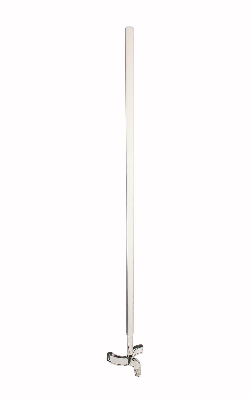 45 mm Dia. Stirring Rod Bar Lab Mixing Equipment 250 mm PTFE Mixer Stirrer Shaft w//Foldable Paddle