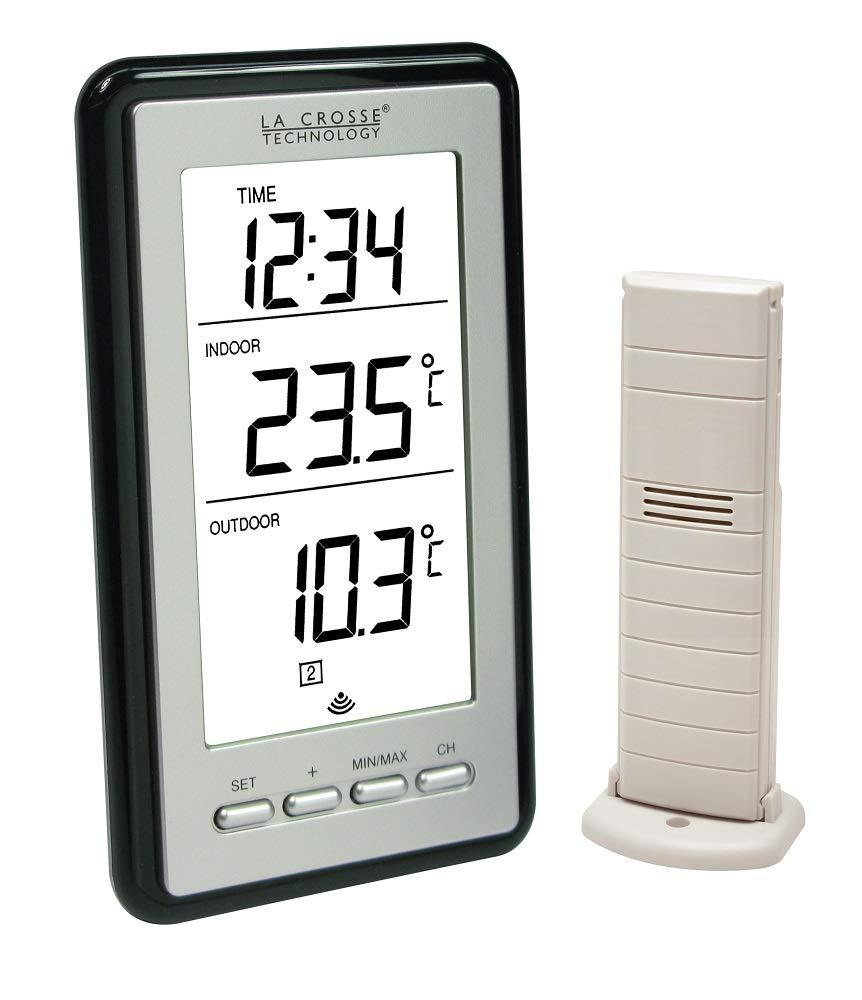 La Crosse Technology WS9160 - Estación meteorológica USB (con reloj), gris: Amazon.es: Jardín